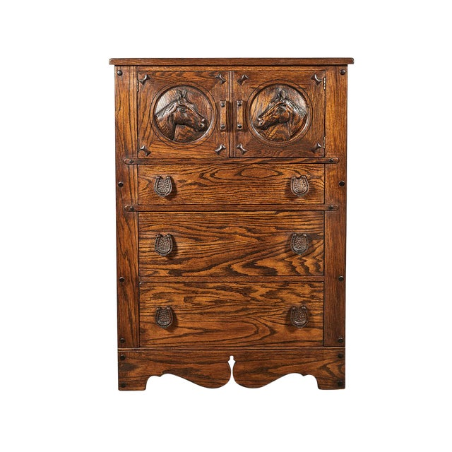 Horse Motif Cabinet For Sale