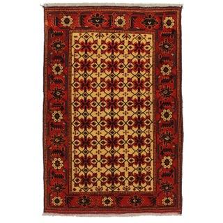 RugsinDallas Vintage Tribal Turk-Men Afghan Hand Knotted Wool For Sale