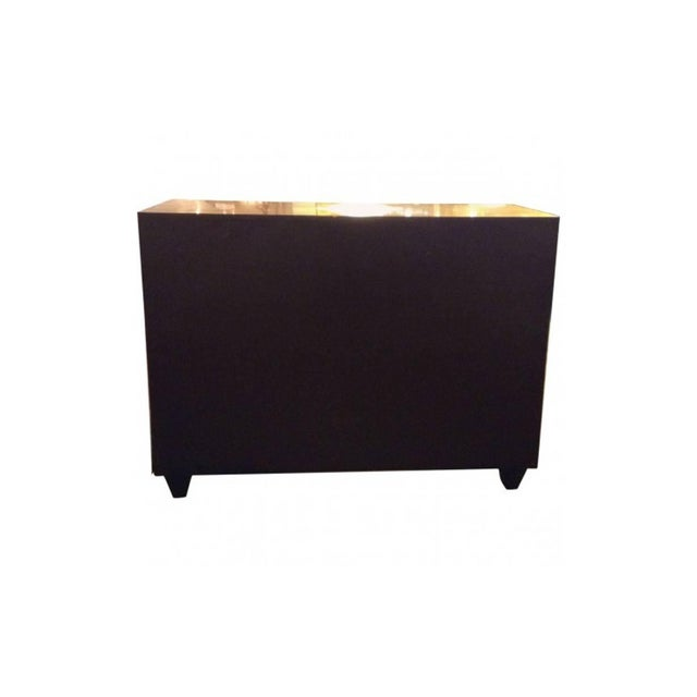 Modern Goat Skin Brass Italian Luxury Goatskin and Brass Three-Drawer Dresser For Sale - Image 3 of 8