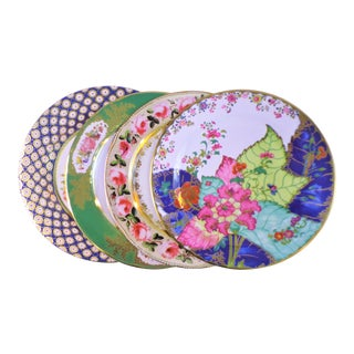 Enamaled Tin English Plates - Set of 4 For Sale