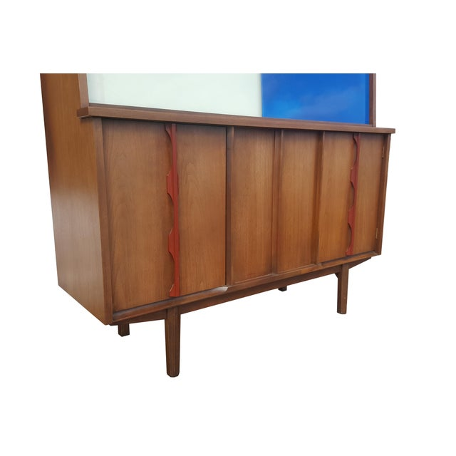 1970s 1970s Mid-Century Modern/Brutalist Display Cabinet/Hutch For Sale - Image 5 of 7