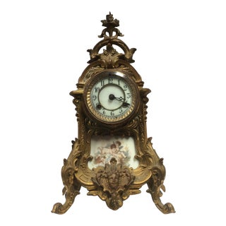 Antique Porcelain French Clock For Sale