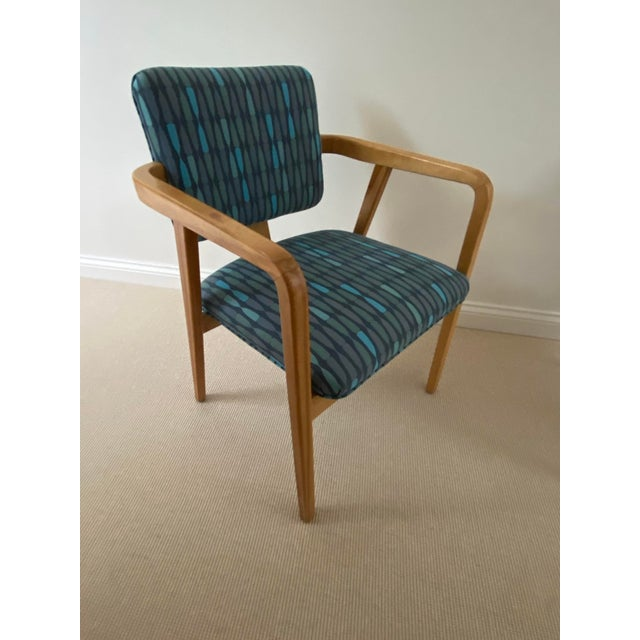 1950s Mid-Century Modern Walnut Upholstered Arm Chairs - a Pair For Sale In Chicago - Image 6 of 13