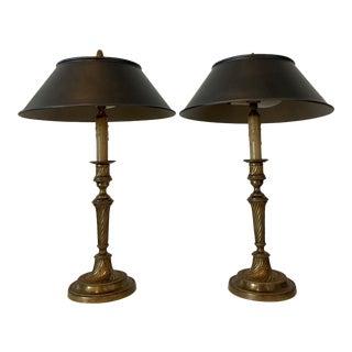 Pait of Bouillotte Lamps For Sale