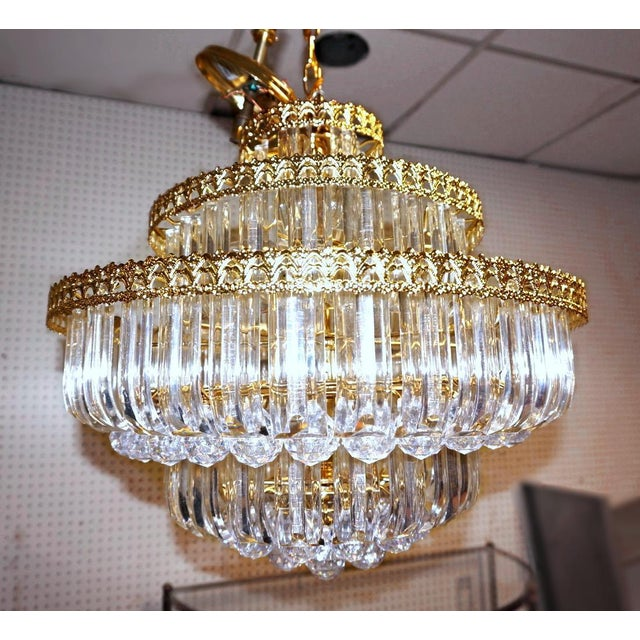 Express a distinct style and taste with this striking yet elegant six-tier crystal style chandelier, and you will love the...