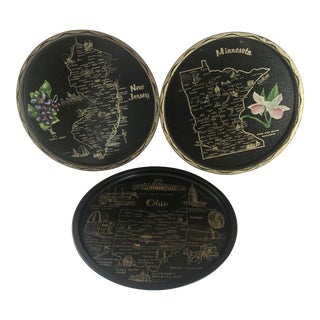 Decorative State Plates, Set of 3 For Sale