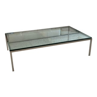 Contemporary Pace Glass Coffee Table For Sale