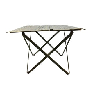 19th Century Industrial Civil War Wood Folding Table For Sale