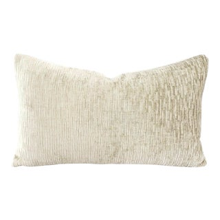 Pindler Foreland in Dove Texture Chenille Lumbar Pillow Cover For Sale