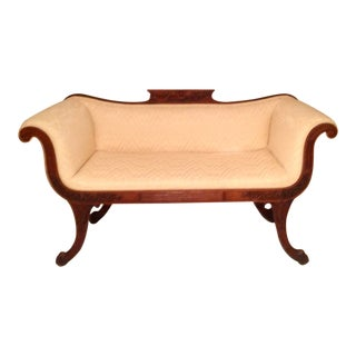 Superior Regency Settee / Hall Seat For Sale