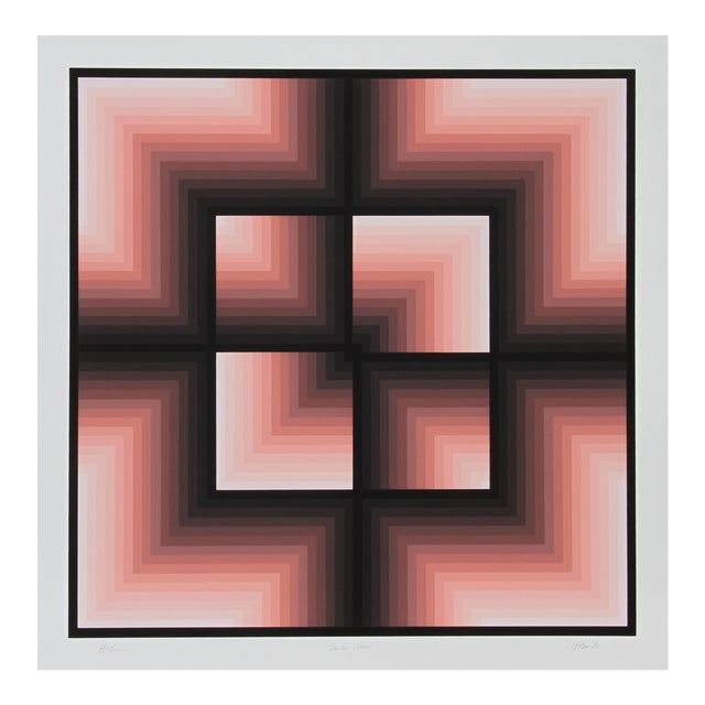"Jurgen Peters, ""Window Motif"", Op Art Serigraph For Sale"