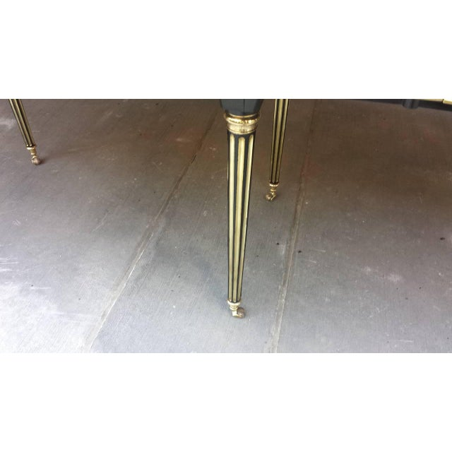 Brass Exquisite Maison Jensen Ebonized Mahogany Dining Table For Sale - Image 7 of 8