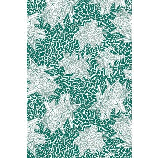 Zebra Star Emerald Wallpaper For Sale