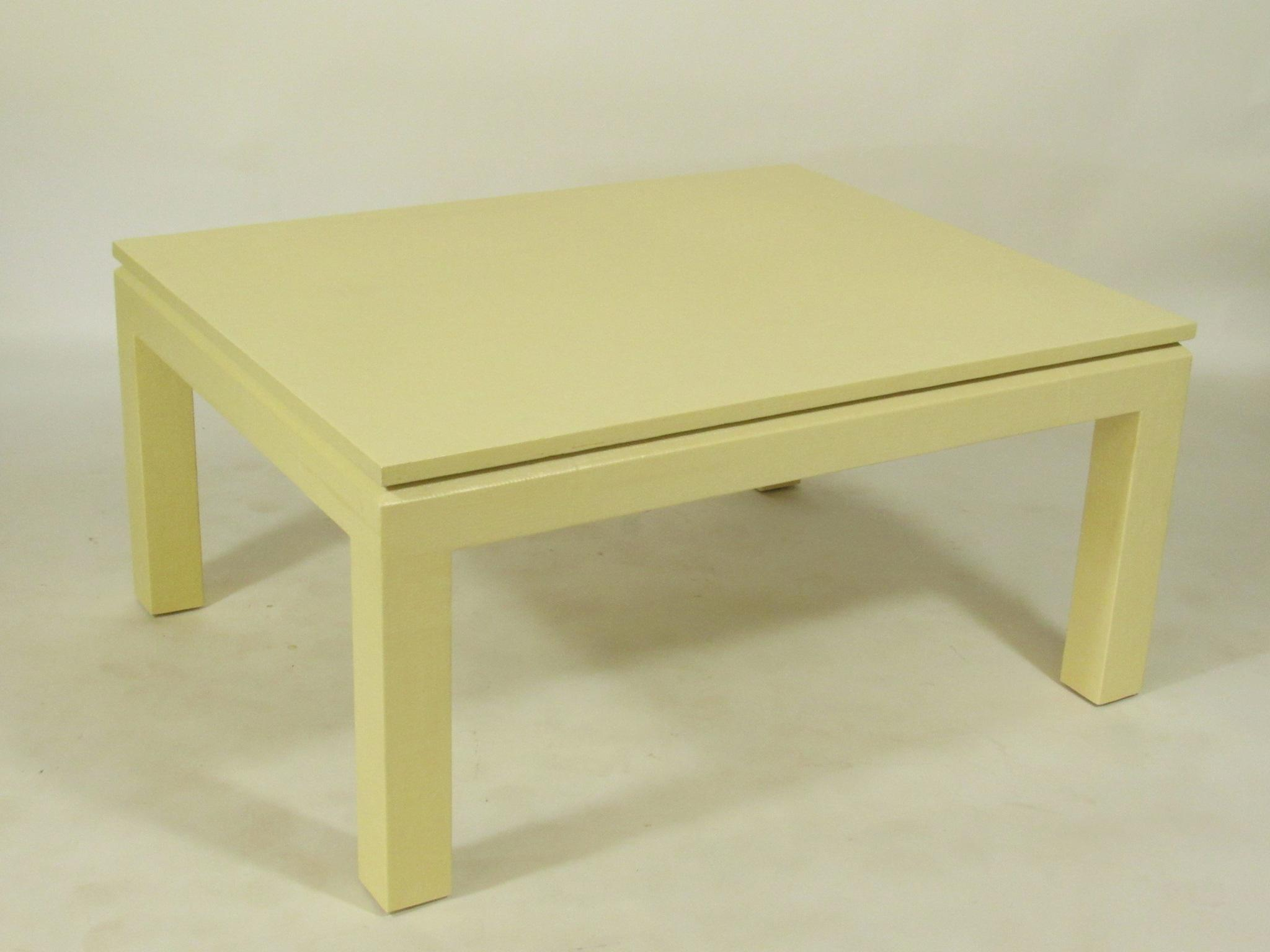 Custom Linen Wrapped Coffee Table   Image 3 Of 8