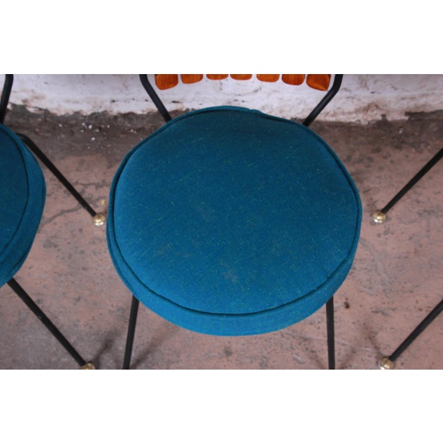 Metal Arthur Umanoff for Shaver-Howard Mid-Century Modern High Back Dining Chairs, Set of Four For Sale - Image 7 of 9