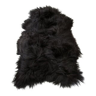 Gambrell Renard Black Sheepskin Throw For Sale