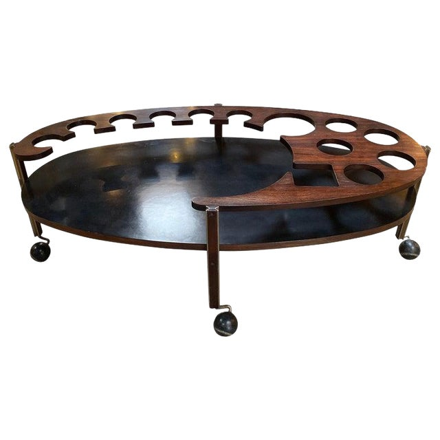 Ico Parisi Sculptural Open Bar Coffee Table Mod. Idra, Italy, 1960s For Sale