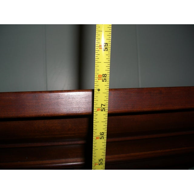 Modern Solid Cherry Fireplace Mantle Arched For Sale - Image 11 of 12
