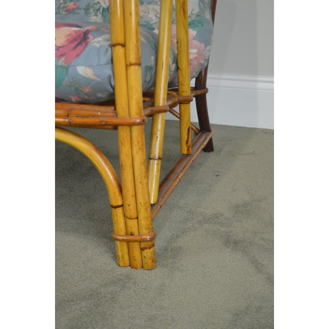 Blue Ward Wicker Vintage Antique Pair of Split Reed Rattan Lounge Chairs For Sale - Image 8 of 13