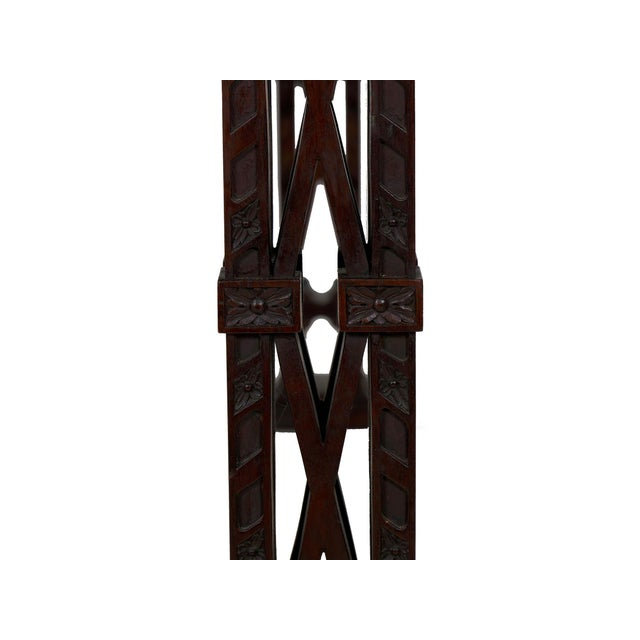 Carved Mahogany English Antique Library Console Table For Sale - Image 12 of 13