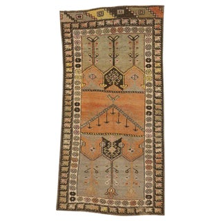 20th Century Rustic Style Distressed Turkish Oushak Rug - 2′6″ × 4′10″ For Sale