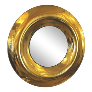 Round Golden Glass Mirror, by Studio Ghiro, Italy, 2014 For Sale