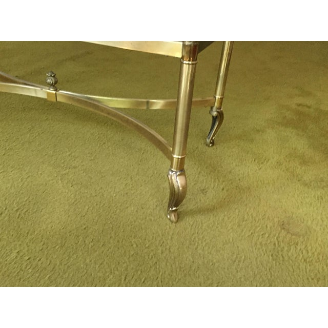 La Barge La Barge Hollywood Regency Brass & Clear Glass Coffee Table For Sale - Image 4 of 6