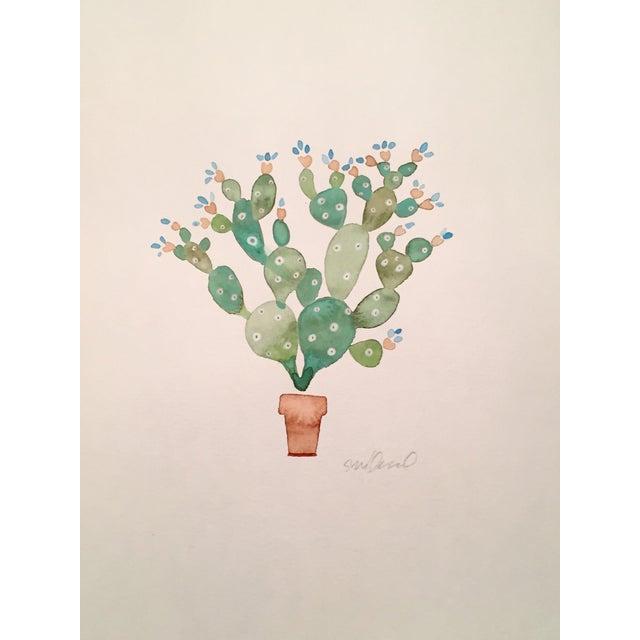 Original Cactus Watercolor - Image 1 of 2