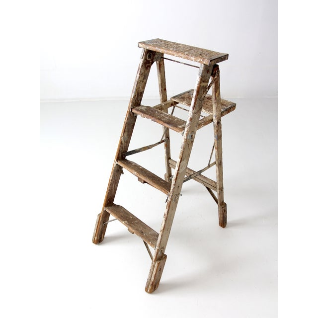 Vintage Rustic Wooden Painter's Ladder - Image 7 of 11