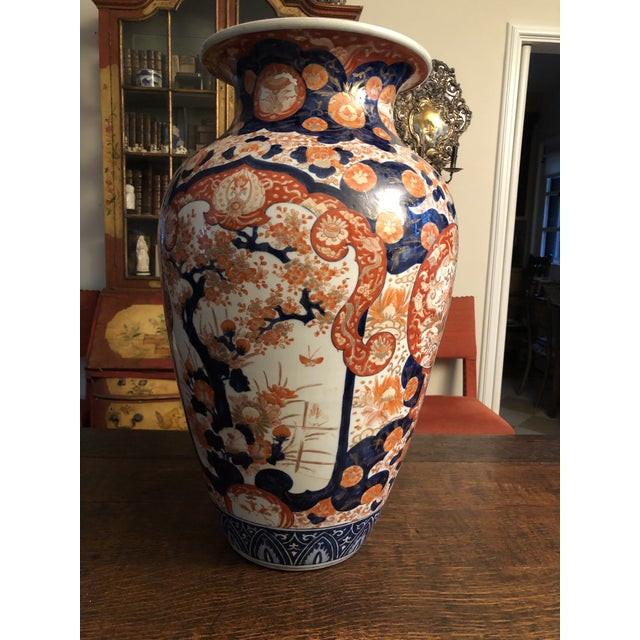 Large 19th Century Antique Japanese Imari Palace Vase. There may have been some restoration over the decades in a couple...