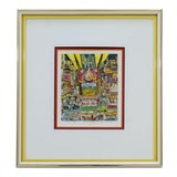 Image of Contemporary Framed Off Broadway 3d Serigraph Signed Charles Fazzino 276/475 Coa For Sale