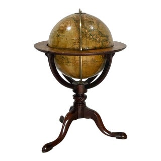 19th Century Globe on Mahogany Stand, England For Sale