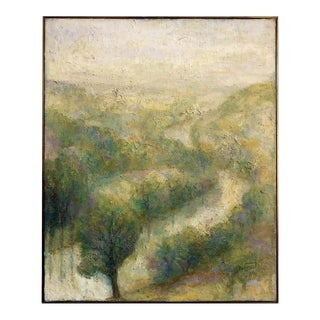 1970s French Impressionist Landscape Oil Painting For Sale