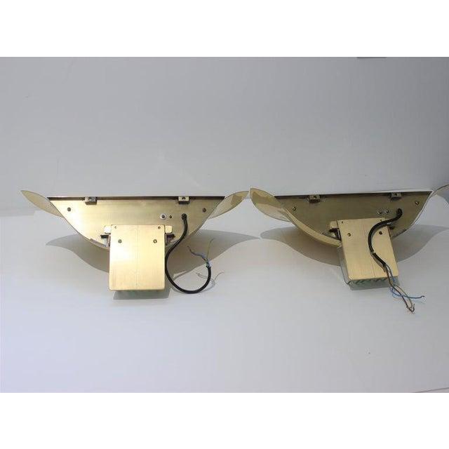 Metal Vintage Art Deco Revival Karl Springer Style Sconces - a Pair For Sale - Image 7 of 13