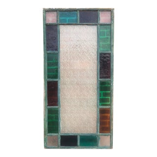 Early 20th Century Antique Large Stained Glass Window For Sale