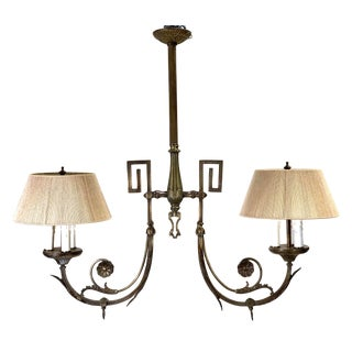 Early 20th Century French Neoclassical Style Brass Chandelier For Sale