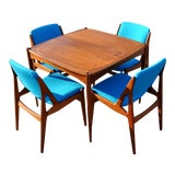 Image of Mid-Century Modern Teak Danish Dining Arne Vodder Ella Chairs & Table - 5 Pieces For Sale