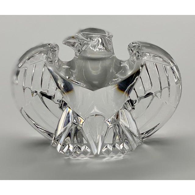 Vintage Steuben Glass Lloyd Atkins Crystal Decorative Eagle For Sale - Image 10 of 13