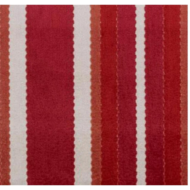 Country Duralee Hunterdon Red & Clay Stripe Fabric - 1 Yard For Sale - Image 3 of 3