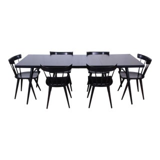 1950s Paul McCobb for Planner Group Ebonized Extension Dining Table & Chairs - Set of 6 For Sale