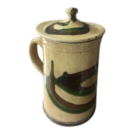 19th Century Lidded Jaspe Pitcher For Sale