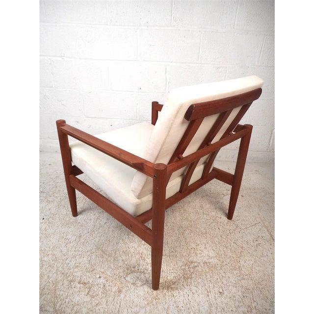 Mid-Century Modern Danish Modern Lounge Chair and Ottoman by Bernstorffsminde Møbelfabrik For Sale - Image 3 of 13