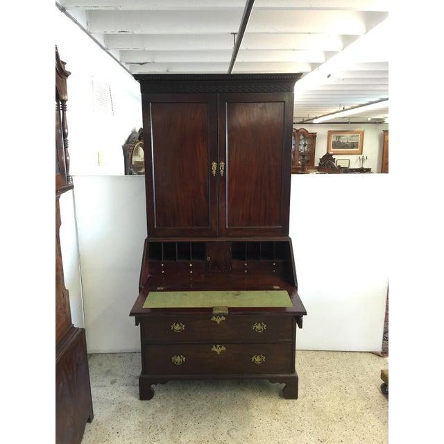 Mahogany Early 19th C. English Mahogany Bureau Bookcase For Sale - Image 7 of 9
