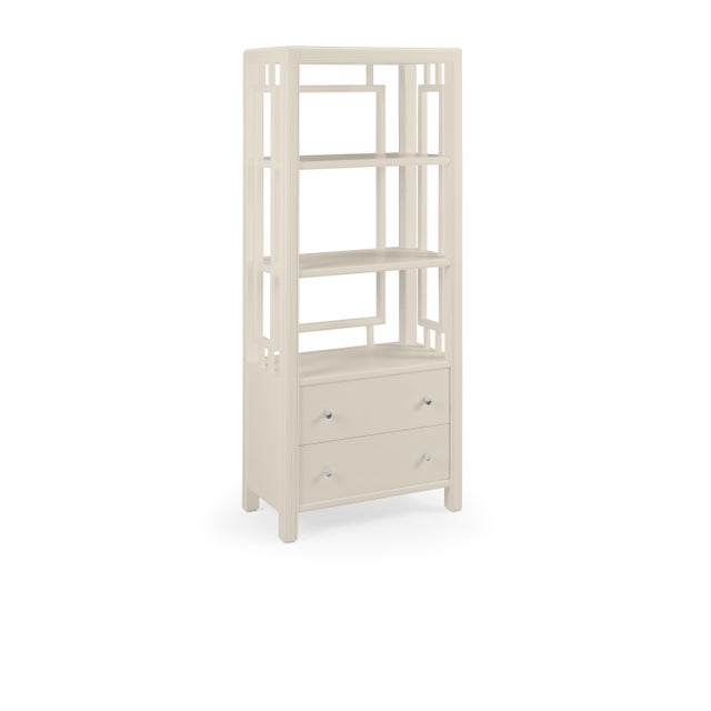 Transitional Devon Bookcase, Revere Pewter For Sale - Image 3 of 3
