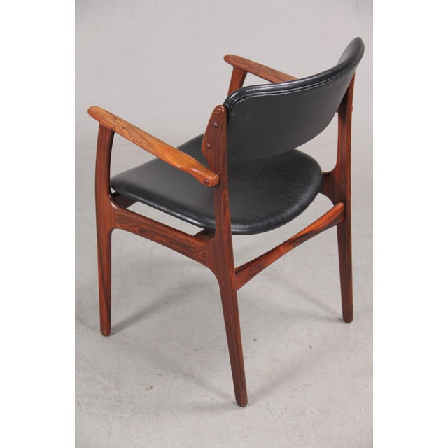 Mid-Century Modern Mid-Century Modern Erik Buch Armchair in Rosewood, Inc. Reupholstery For Sale - Image 3 of 10