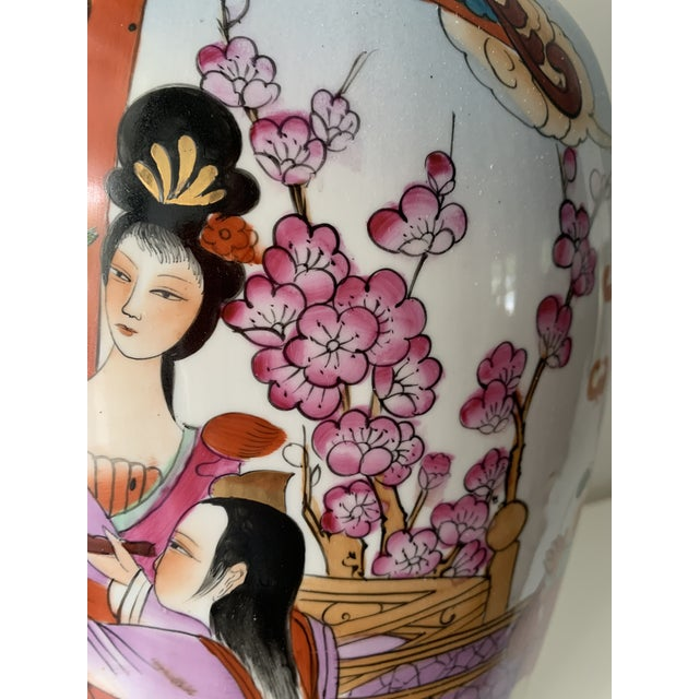 Purple Mid 20th Century Vintage Famille Chinese Porcelain Vase For Sale - Image 8 of 13