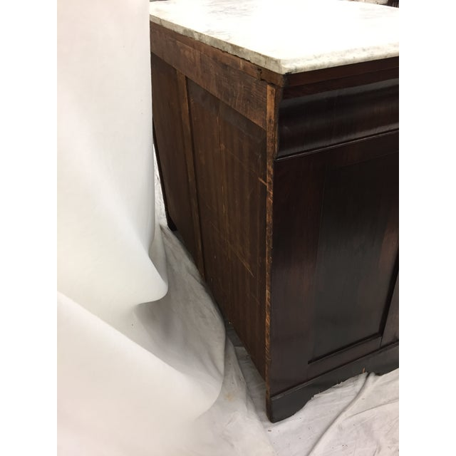 Antique Marble Top Chest of Drawers - Image 7 of 8