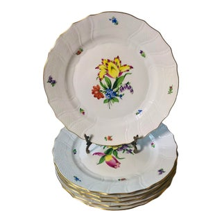 Herend Printemps Dinner Plates - Set of 6 For Sale