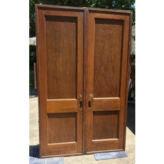 19th Century Revival Oak Double Pocket Door Preview