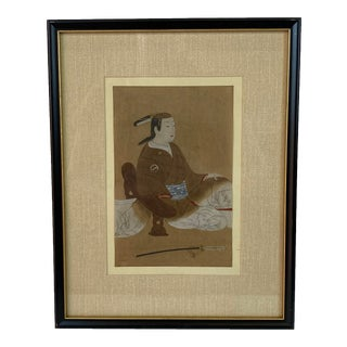 Antique Japanese Ukiyo-E Woodblock Print For Sale